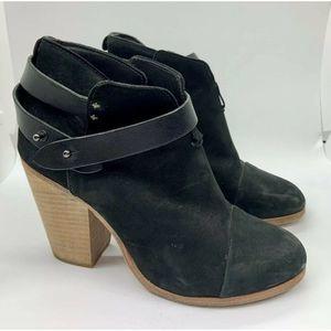 RAG AND BONE Harrow Black Suede Boots Size 37 $495
